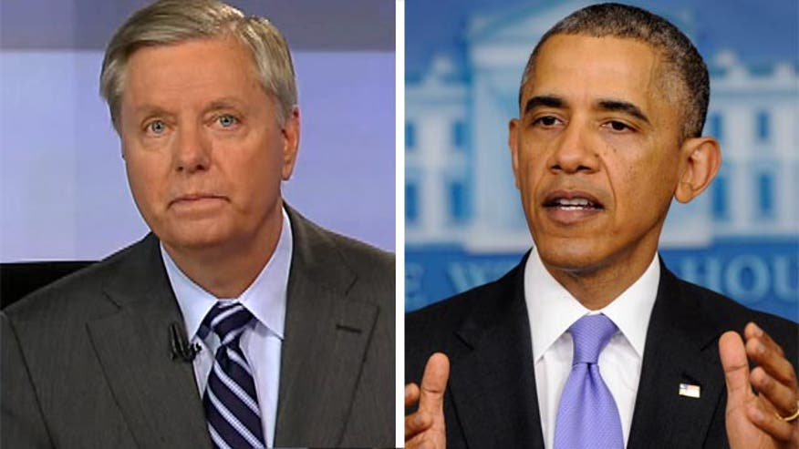 President Obama says VA scandal allegations are 'disgraceful' and won't be tolerated ... but he'll continue to tolerate VA Secretary Shinseki. Sen. Lindsey Graham sounds off