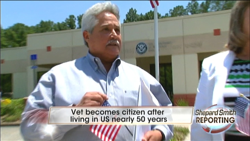 Vietnam veteran recently discovered he wasn't a citizen.