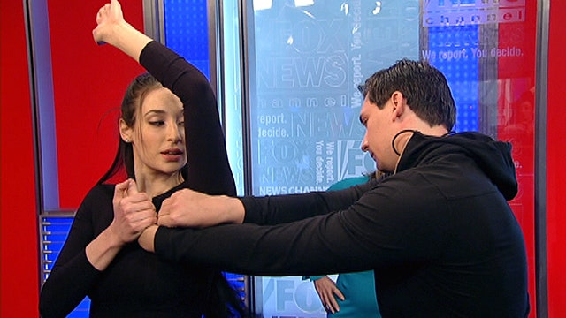 Avital Zeisler teaches self-defense techniques