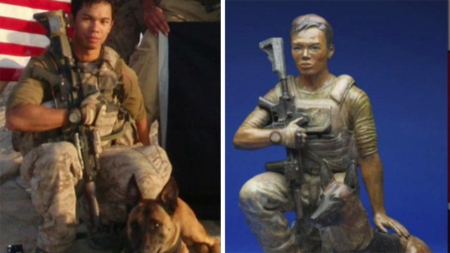 Tribute to a fallen Navy SEAL