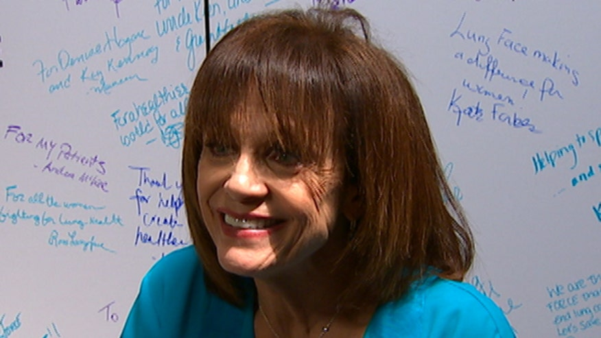 Valerie Harper opens up about her cancer diagnosis during the Lung Force event in NYC.