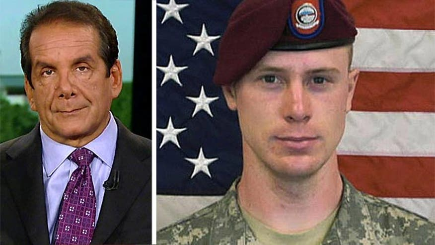 Fox News Contributor Charles Krauthammer said there is overwhelming evidence Sgt. Bowe Bergdahl is a deserter and called on the military to investigate Berghdal's mysterious disappearance from an American base in Afghanistan in 2009.