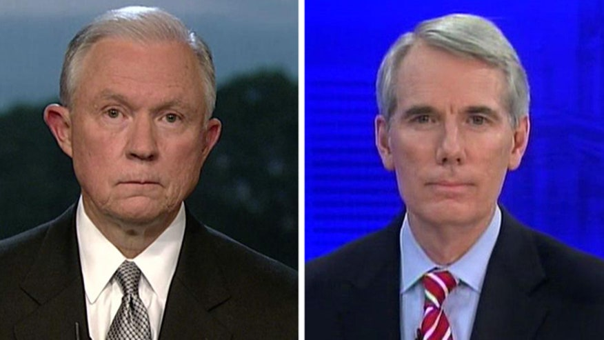 Senator Rob Portman and Senator Jeff Sessions react to congressional briefing on deal with the Taliban