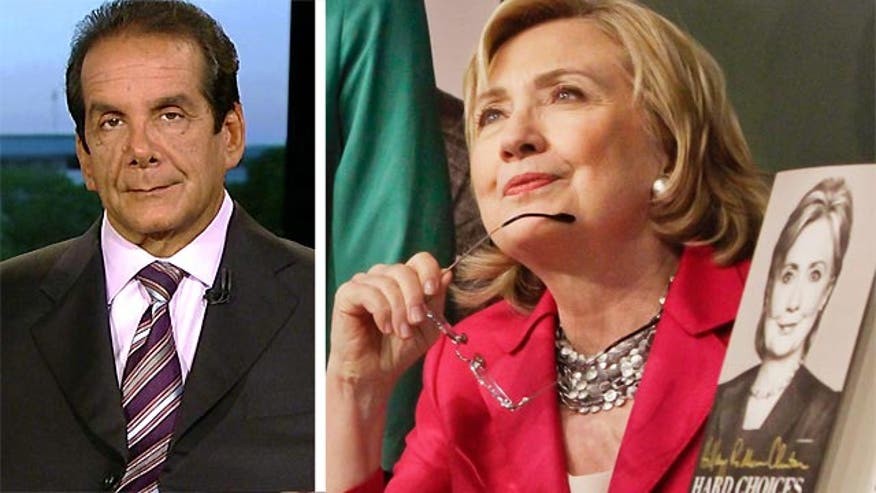 "Syndicated Columnist Charles Krauthammer called out Hillary Clinton Tuesday for having an ""intrinsic insincerity."""