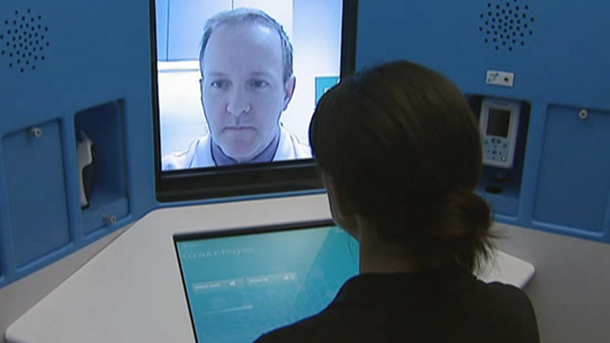 Imagine being able to visit with your doctor at the grocery store, on a college campus or even at your job.  Soon kiosks will be available in communities that will allow people to interact with doctors via video conferencing