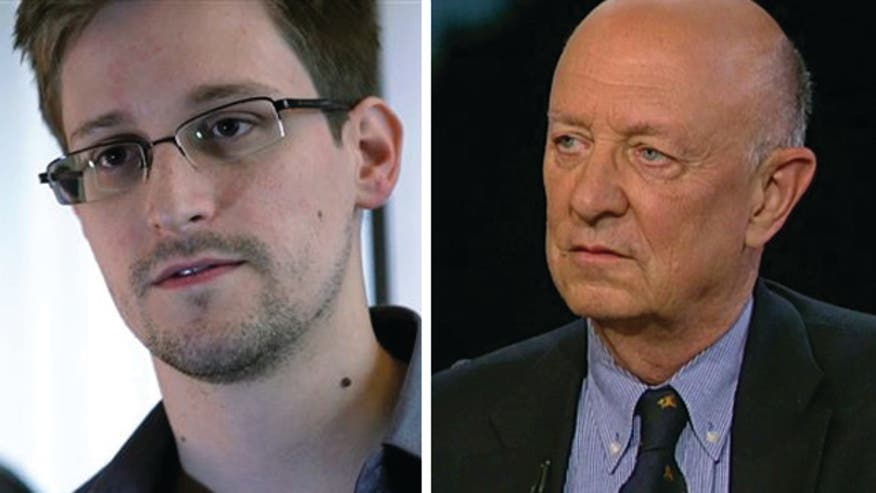 Former CIA director and vice president of Booz Allen Hamilton James Woolsey on NSA leaker Edward Snowden, vetting process for national security contractors