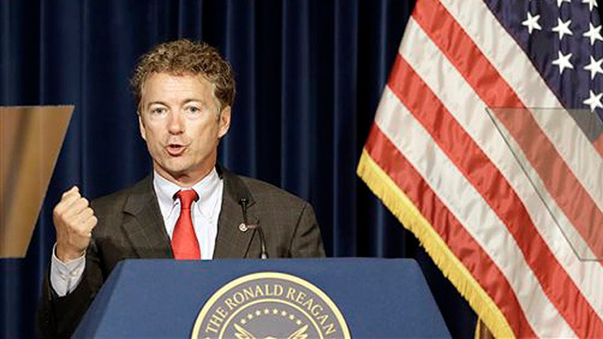 Senator Rand Paul reacts to the NSA surveillance leak