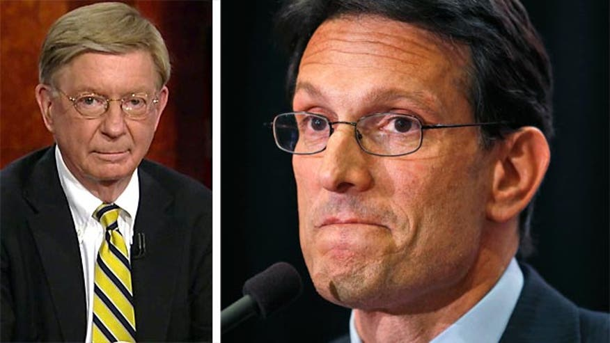 "Syndicated columnist George Will said Wednesday on ""Special Report with Bret Baier"" that House Majority Leader Eric Cantor's great advantage in the Virginia Republican primary was money - and it cost him the race to challenger David Brat."