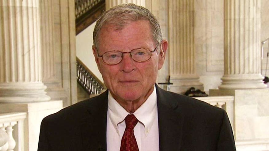 Sen. Inhofe reacts to information relayed to Armed Services Committee