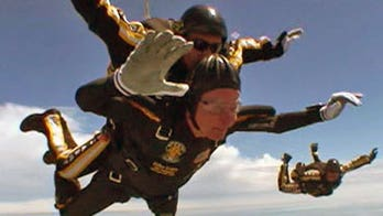 George H.W. Bush loved to skydive, took last jump for 90th birthday