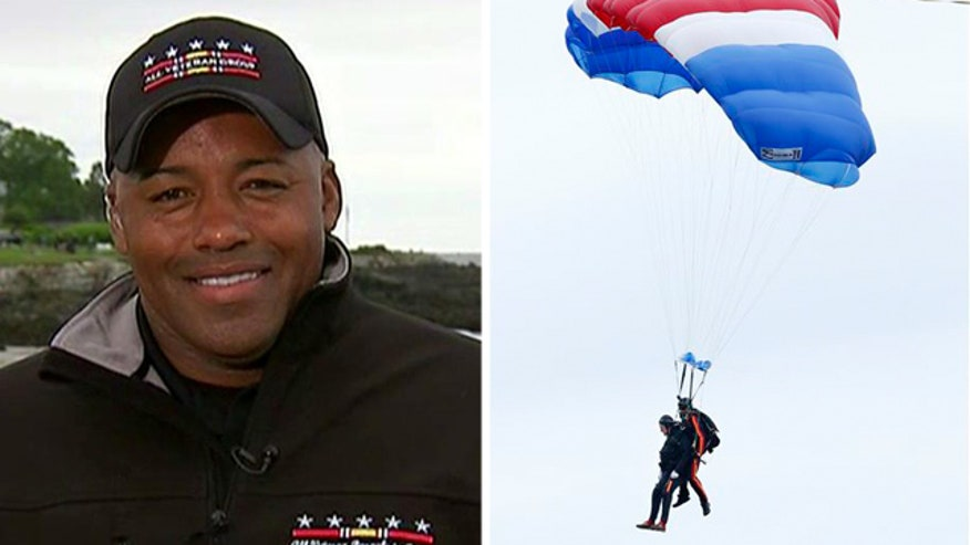 Former president celebrates 90th birthday with parachute jump