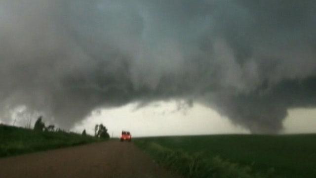 Twin tornadoes rip through Nebraska