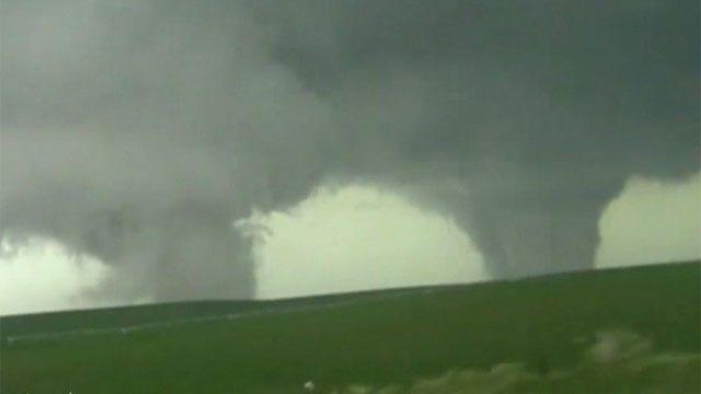 Rare twin tornados devastate northeast Nebraska