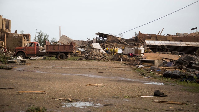 Twin tornados leave path of destruction in Nebraska