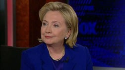 Hillary Clinton largely kept her footing in Tuesday night's -minute Fox News interview with Greta Van Susteren and Bret Baier.