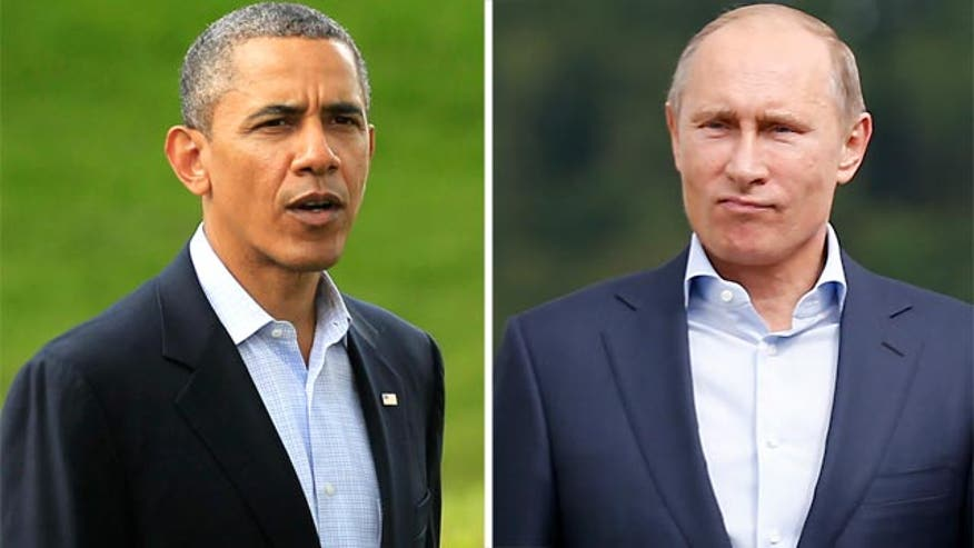 Presidential power play pits President Obama against Russia's Vladimir Putin