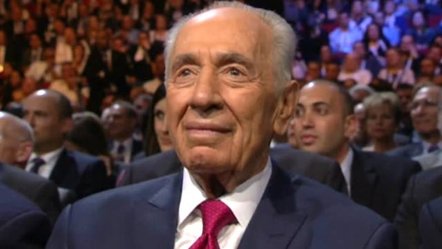 Raw video: Stars gather to celebrate Israeli president