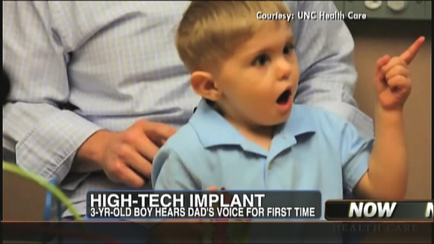 A 3 year-old boy experiences something for the first time that most of us take for granted: the ability to hear.