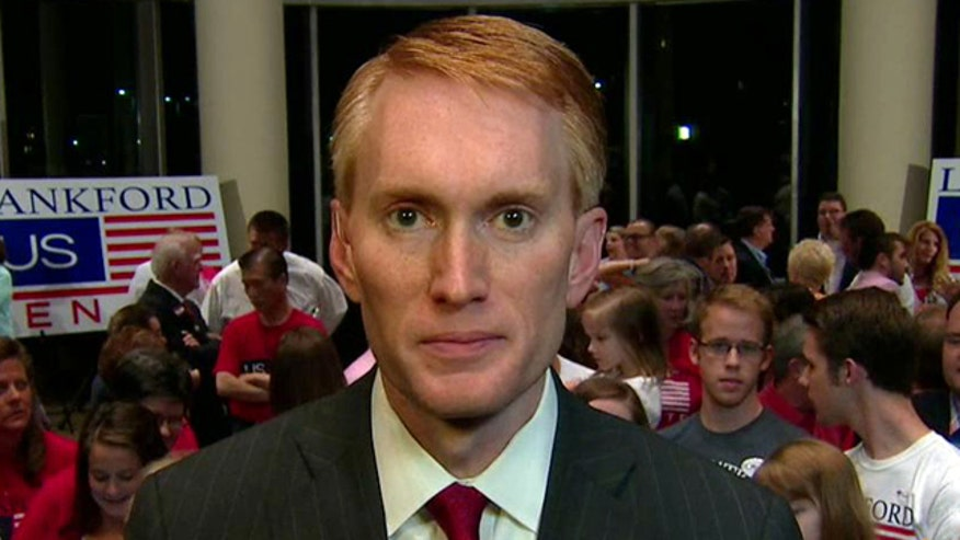 Lankford reacts to victory