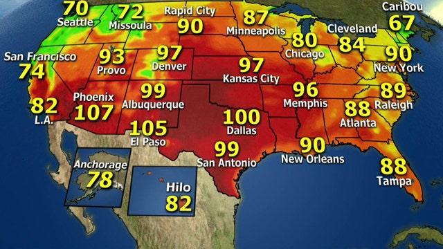 National forecast for Wednesday, June 26