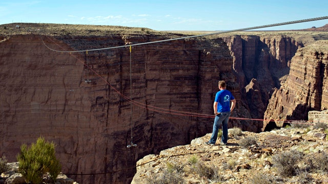 Nik Wallenda describes making history over Grand Canyon