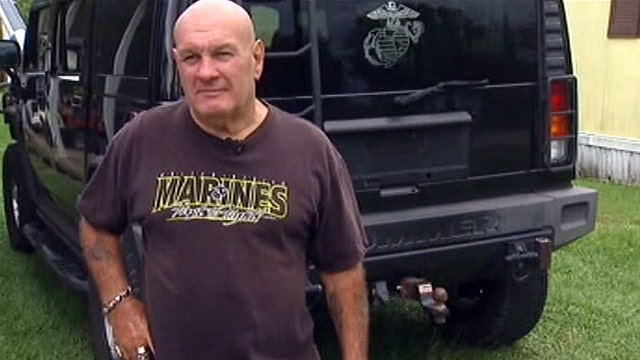 Veteran marine stops bank robber