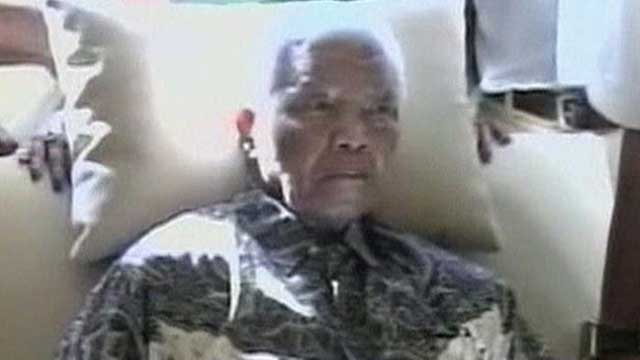 Former South African leader Nelson Mandela on life support