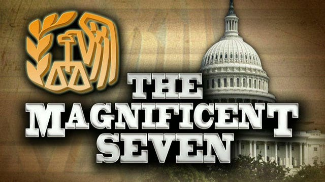 'Magnificent Seven' covering for the IRS