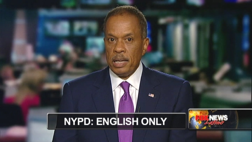 "Juan Williams talks to FNL about the NYPD's ""No Spanish"" policy."