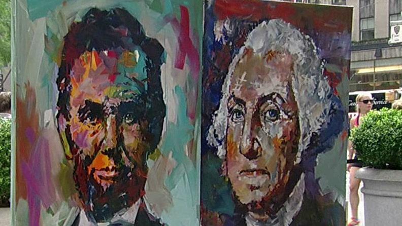 Patriotic paintings celebrate history of America