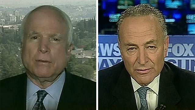 Sens. McCain, Schumer talk future of immigration bill