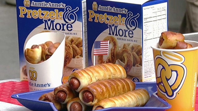 Rolling pretzels with Auntie Anne's