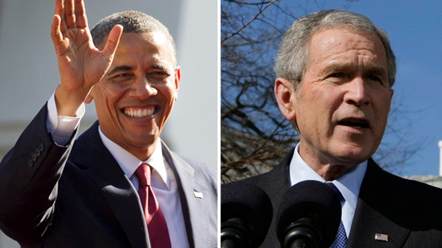 Obama set to meet with George W. Bush in Africa