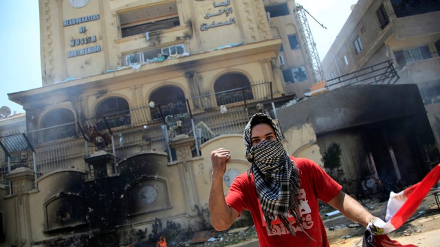 Protesters storm Muslim Brotherhood headquarters in Egypt