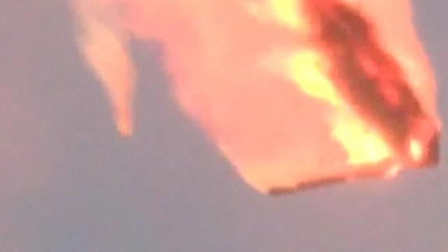 Massive fireball fills sky after Russian rocket explodes