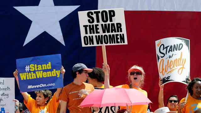 Battle over abortion rights in Texas