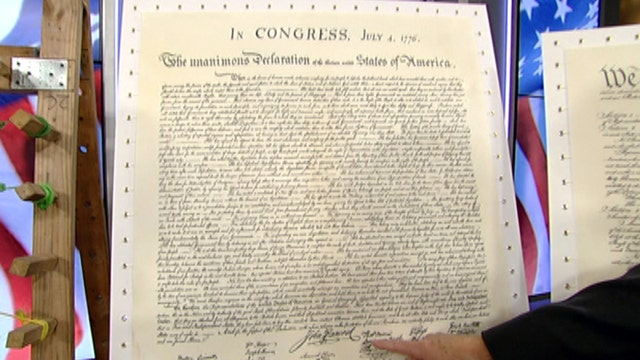 Teacher brings historic US documents to life