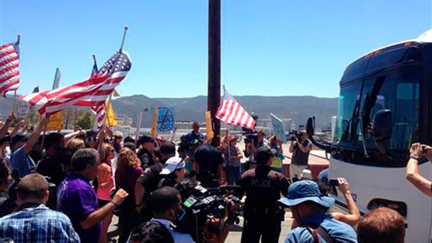 Tempers flare at rowdy town hall meeting in Murrieta, California