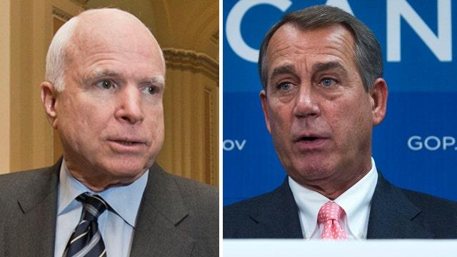 McCain, House GOP clash over immigration overhaul