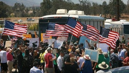 Protestors and immigrant supporters have drawn battle lines once again in Murrieta, California.