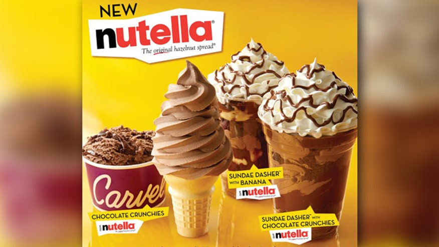 Carvel partners with Nutella to create four summer ice cream combinations.