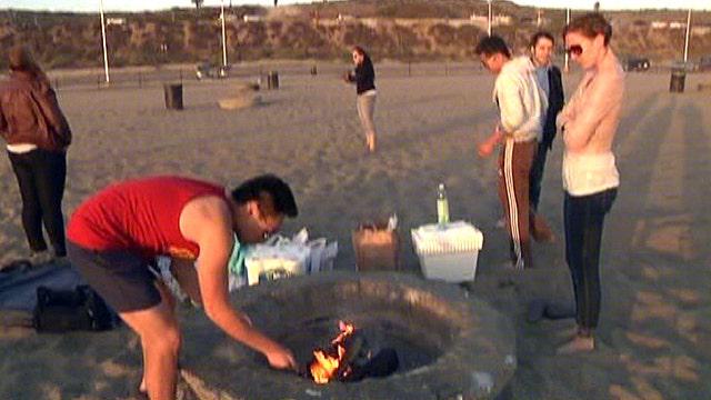 Beach bonfires halted in California