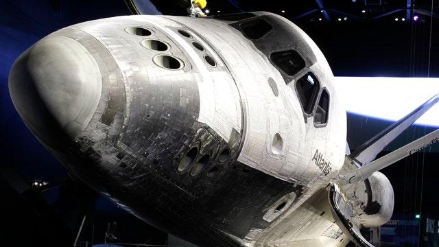 Atlantis space shuttle on display