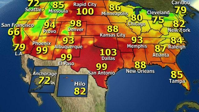 National forecast for Thursday, 7/11
