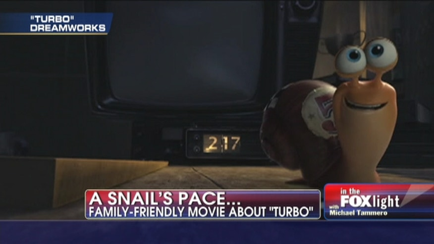 """Turbo,"" is a garden snail who dreams of being the greatest racer in the world."