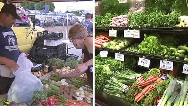 Farmers market vs. supermarket