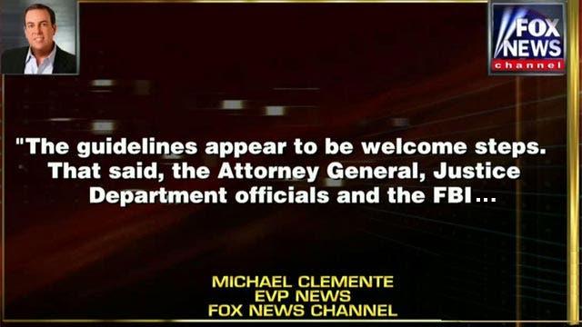 Fox News executive responds to DOJ's new reporter guidelines