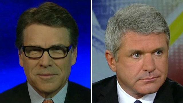 Gov. Perry, Rep. McCaul talk border crisis