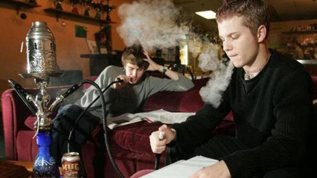 Alarming increase in number of young people smoking hookah
