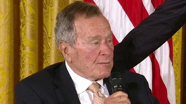 Former President George HW Bush returns to White House